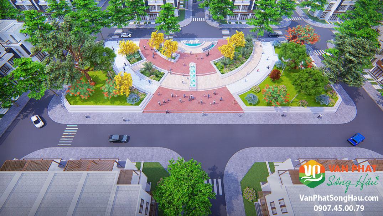 hình ảnh khu dân cư vạn phát sông hậu